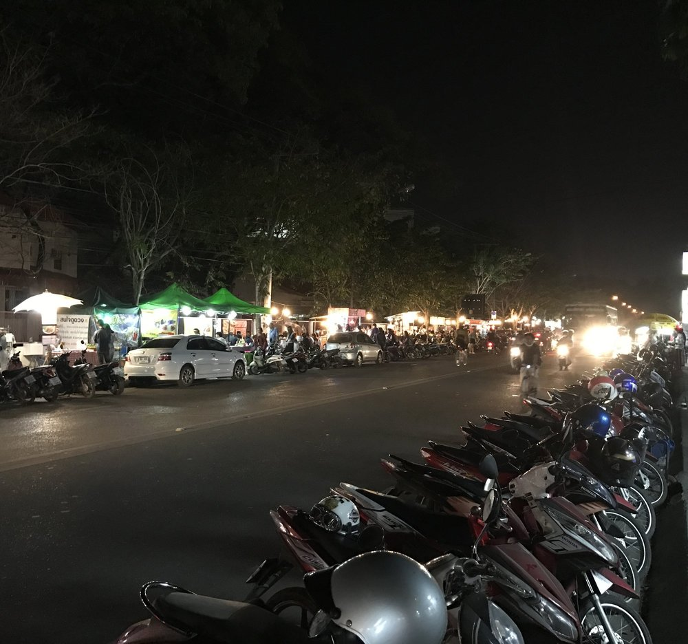 Night food market on Suthep Road, Chiang Mai.
