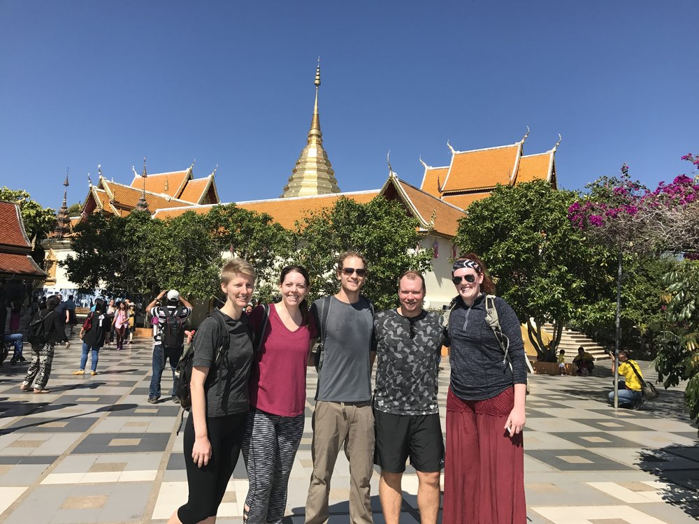 We found hiking kindred spirits on the trail up Doi Suthep!