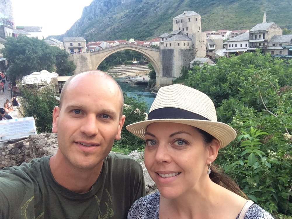 Stari Most bridge in Mostar, Bosnia & Herzegovina.  July, 2016