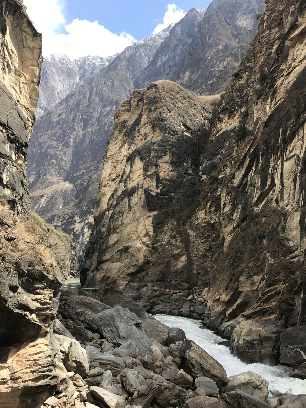 Bottom of Tiger Leaping Gorge (Middle Gorge).  March, 2017