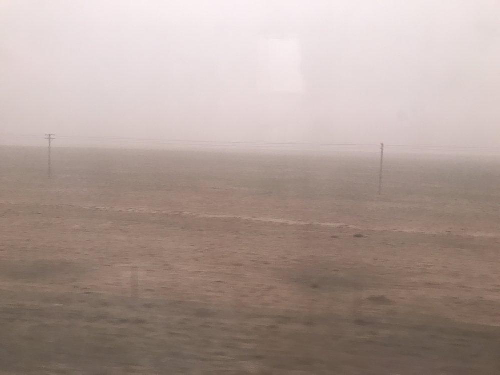 The sandstorm begins