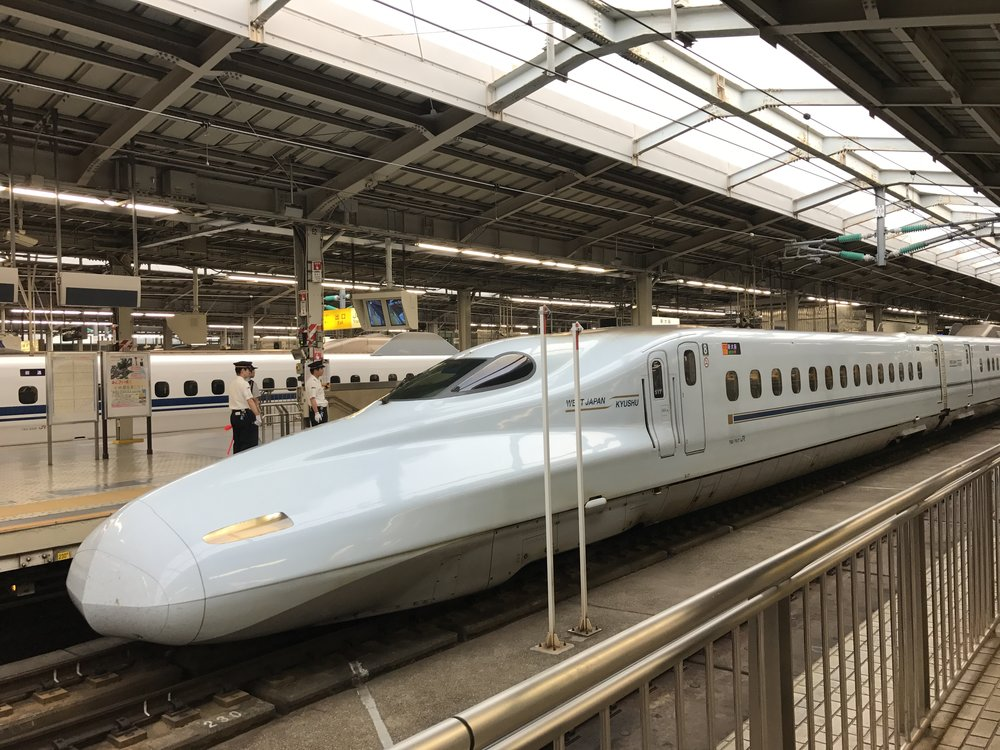 Bullet train in Osaka station