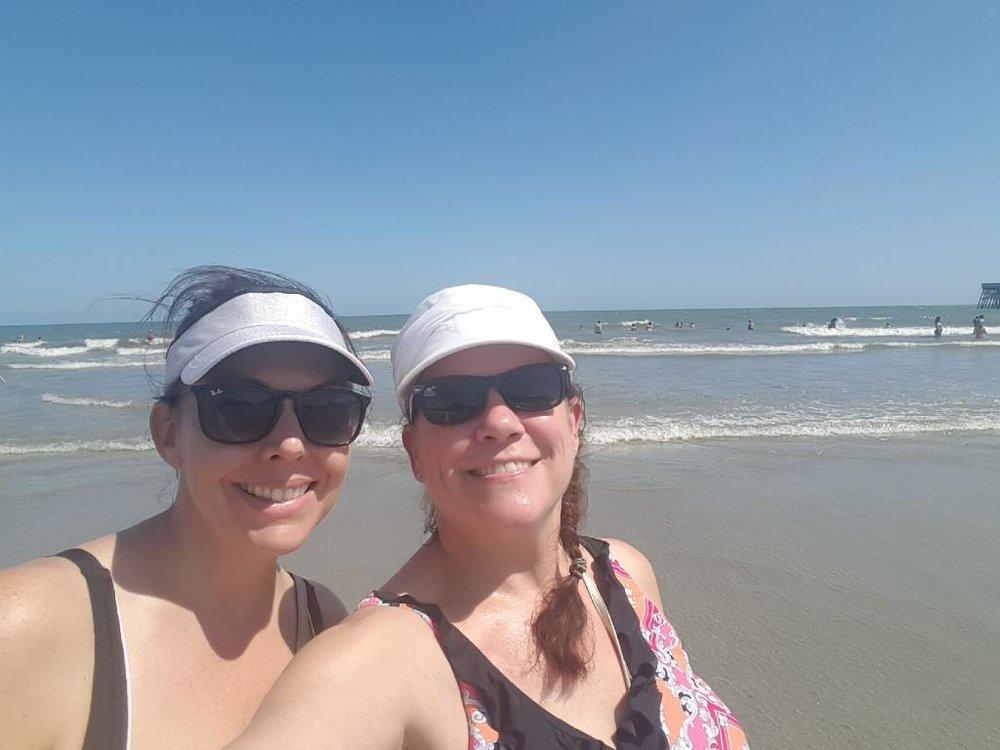 Beach babes.