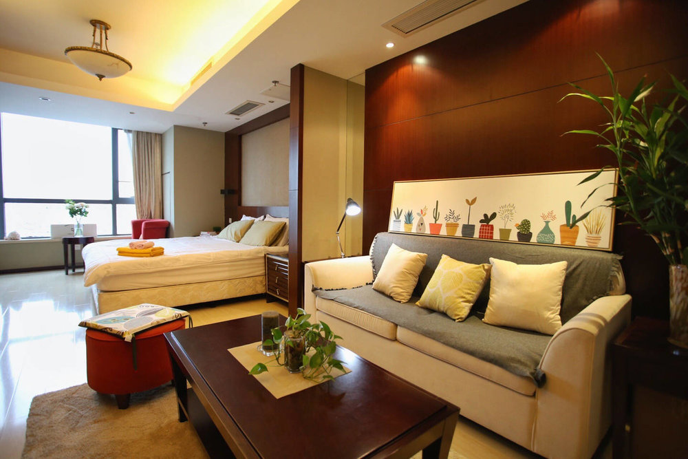 Open floor plan and stellar city views in Nanjing