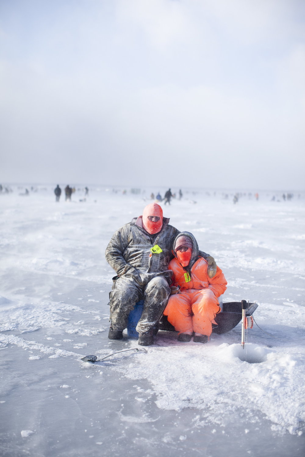Winter Ice Fishing for Various Clients