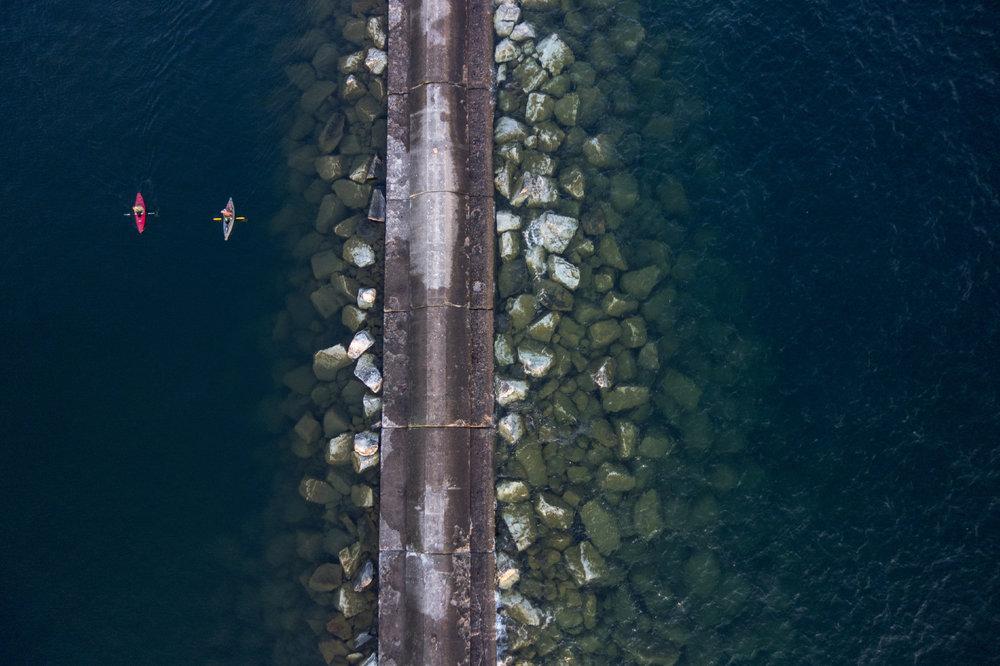 Aerials of Grand Marais, Minnesota  Photo by Ackerman + Gruber