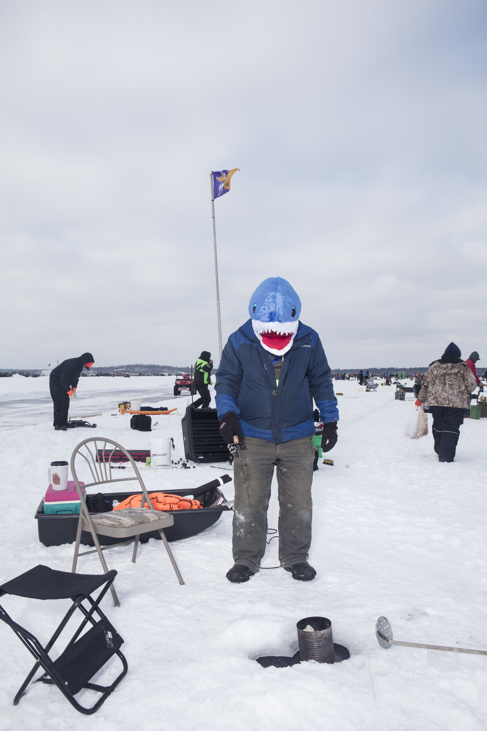 Ice Fishing for ESPN The Magazine