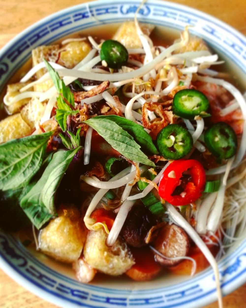 Shiitake Mushroom-Ginger Noodle Bowl