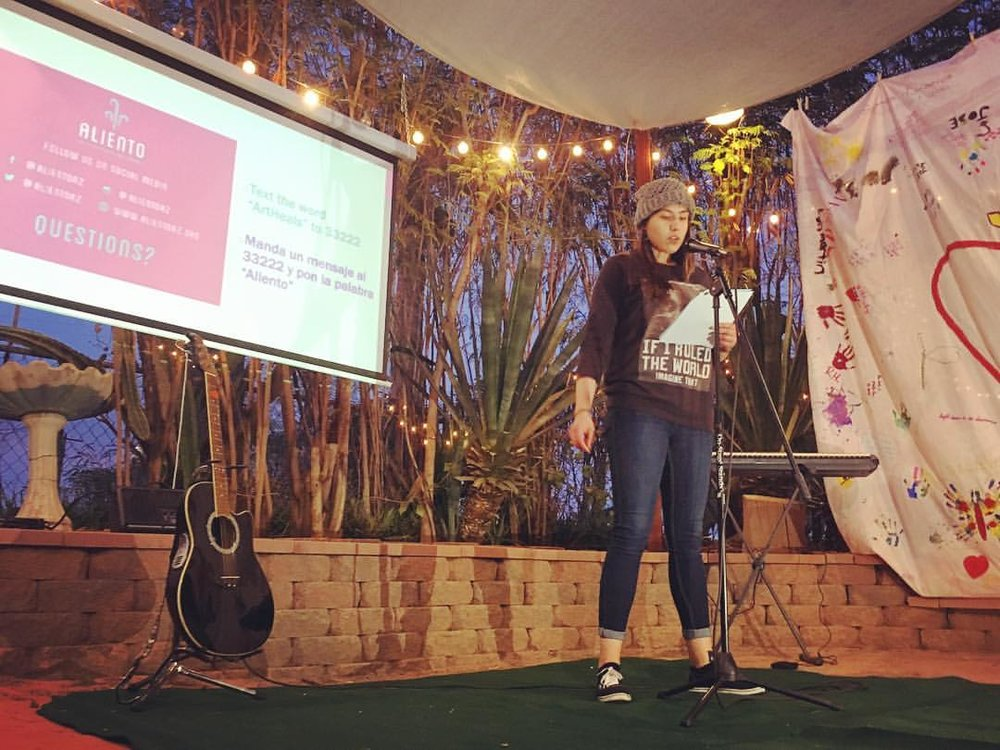 First Friday Open Mic Nights - Friday May 4 at 7pmJoin us every First Friday for a themed Open Mic Night hosted by Aliento, an undocumented & youth-led organization that provides community healing through art.