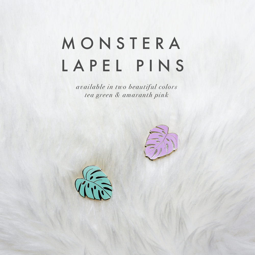 Monstera Pins by Handmade Sam*Made - www.handmadesammade.com
