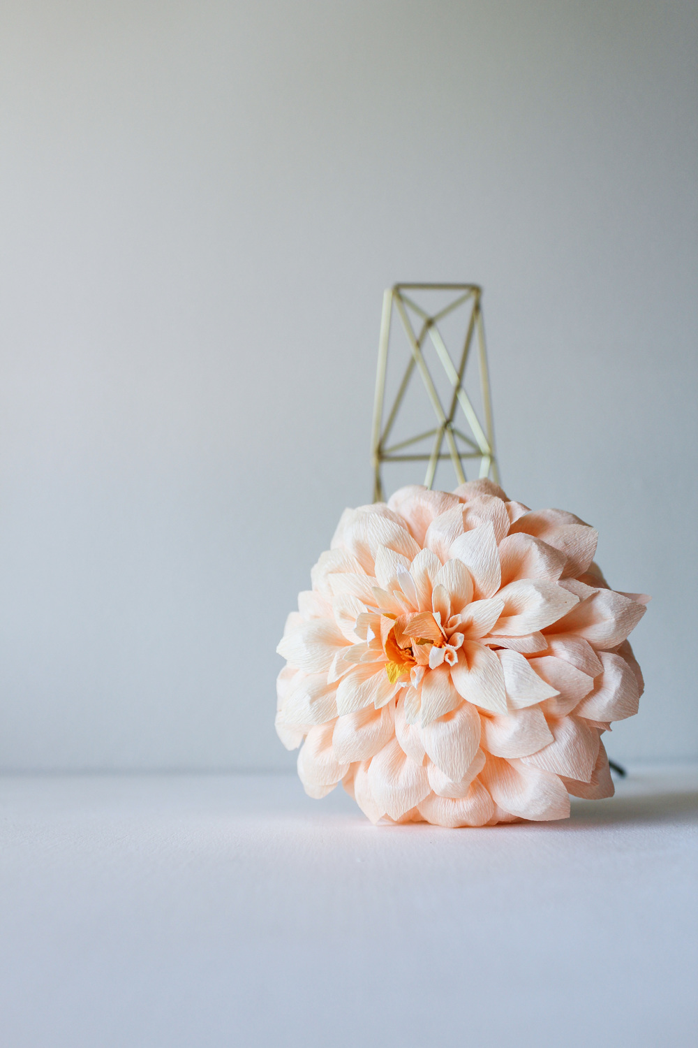 The Tower Bud Vase by Handmade Sam*Made and Paper Dahlia by Pink & Posey