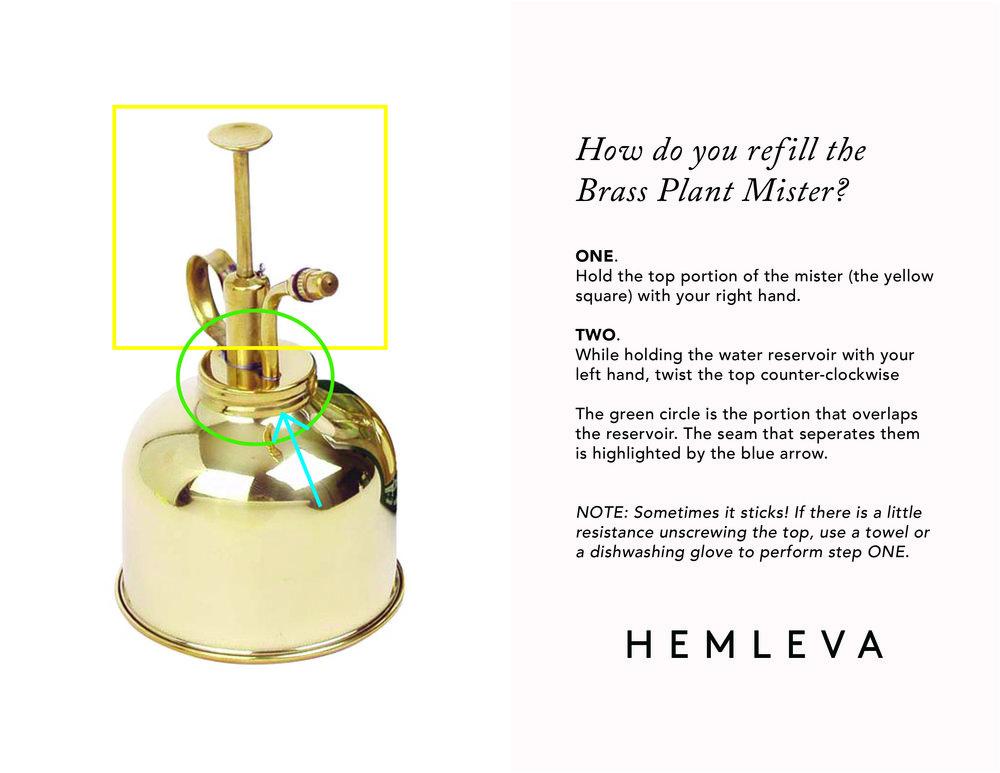 Brass Mister Refill Guide by Hemleva | hemleva.com