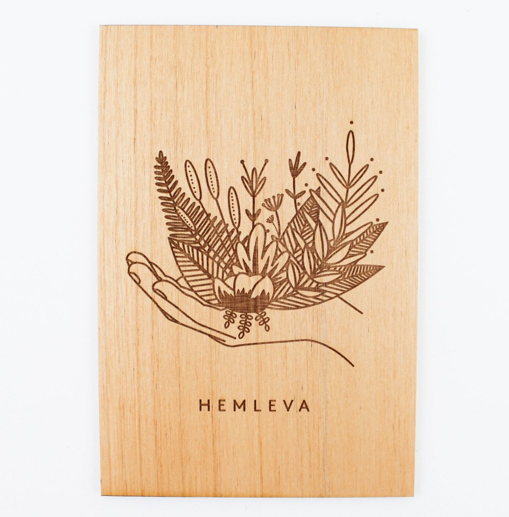 Wood-Etched Card   A gorgeous laser-etched card made from certified sustainable wood is the perfect keepsake gift for any plant lover. Limited Edition / Only 100 available