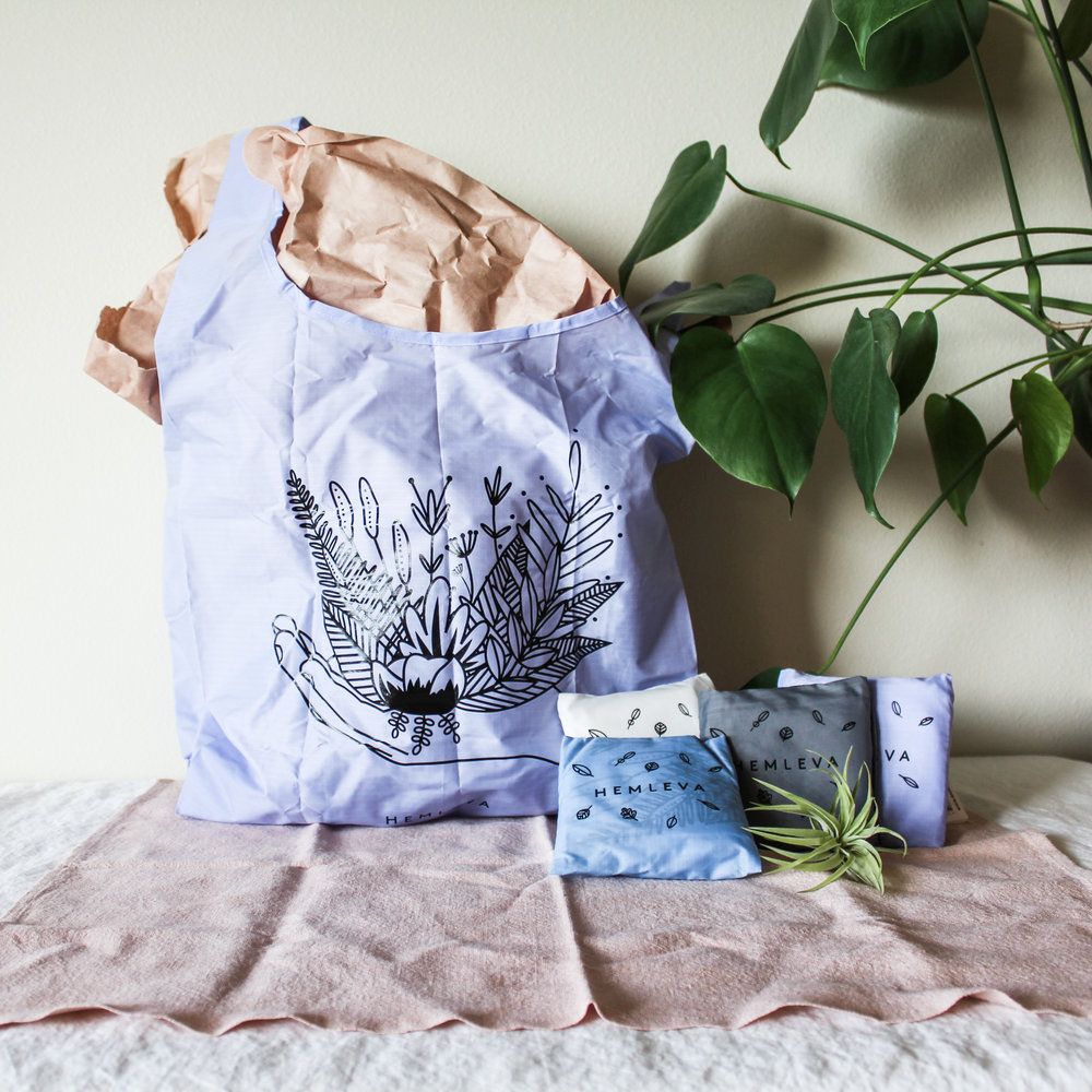 """BAGGU A beautiful reusable bag is the perfect bag to bring with you on the go. It can be folded down into the included 5x5"""" bag. Made out of durable ripstop nylon, it can hold up to 50 pounds! It holds the equivalent of 2-3 grocery bags, and weighs less than 2 ounces! 4 Colors Available Limited Edition / Only 200 available"""