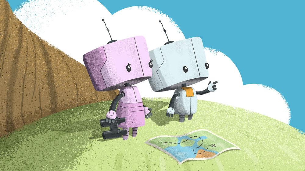 Final robot character illustration