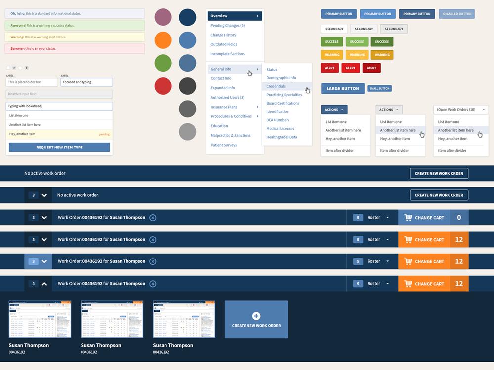 Styleguide for HealthCo Database Admin System
