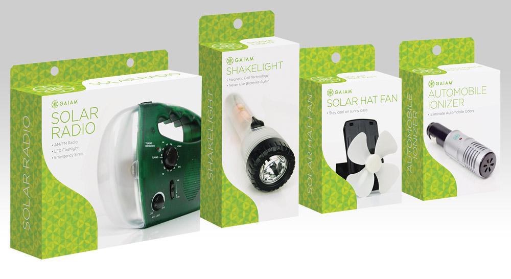 Packaging design for Gaiam