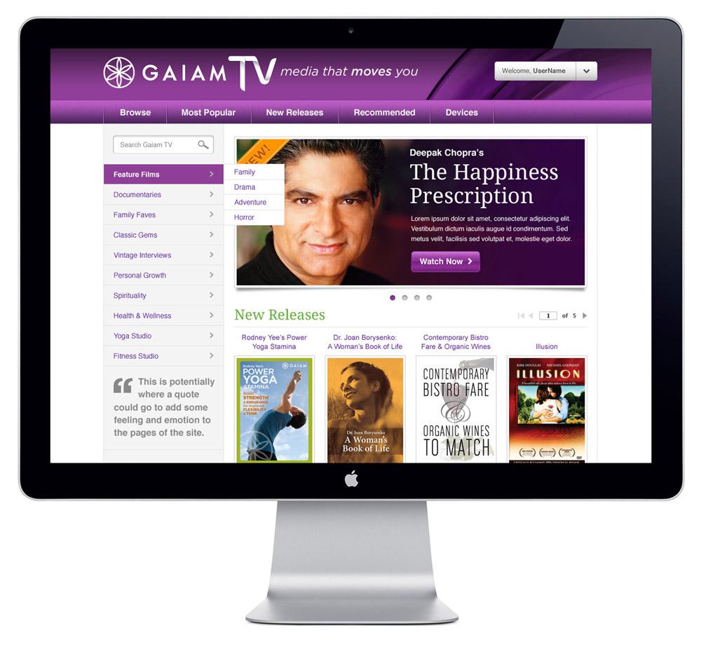 GaiamTV Website