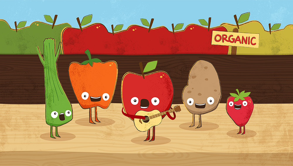 Illustration for Horizon Organic Video Ad
