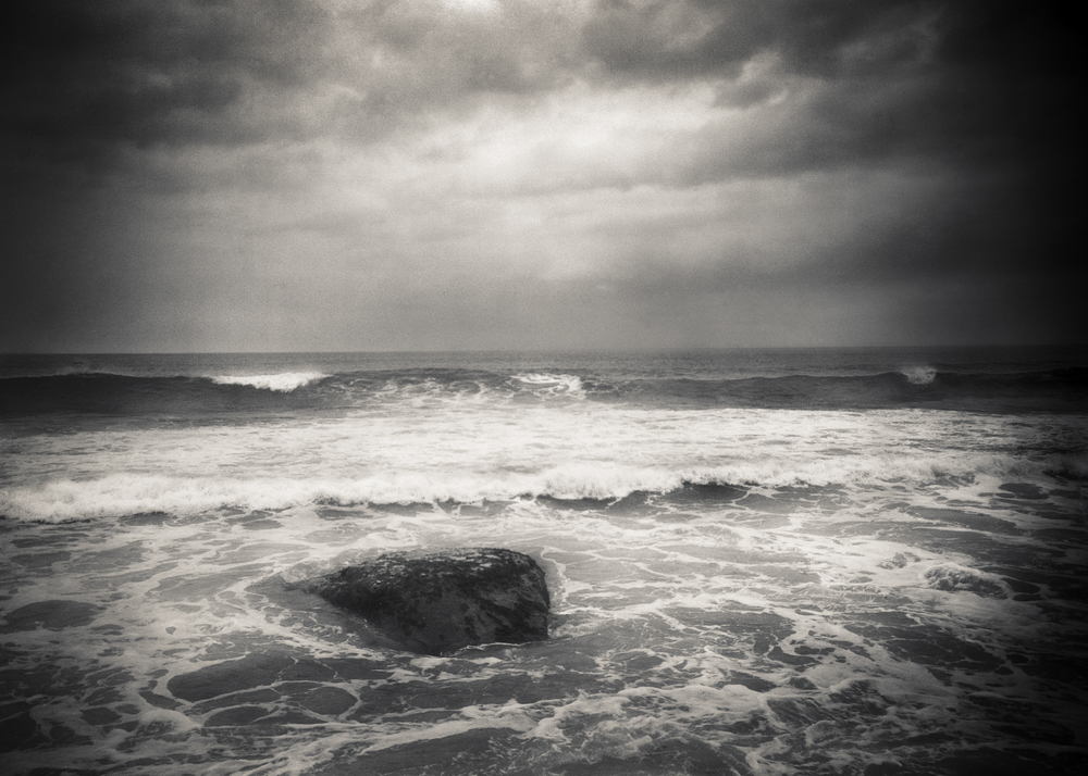 Love is a rock in a turbulent ocean. There is stillness in the beauty.   11x15 Platinum/palladium prints available at the following galleries     alibifineart.com  (Lisa Janes, Gallerist)     jessicahagen.com  (Jessica Hagen)     photoeye.com  (Anne Kelly)