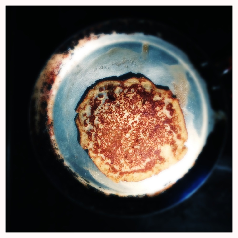 Pancake in the griddle