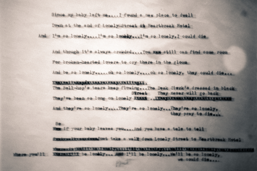 Original Lyrics to Heartbreak Hotel
