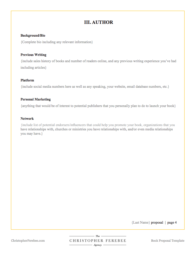 Book Proposal Template Christopher Ferebee