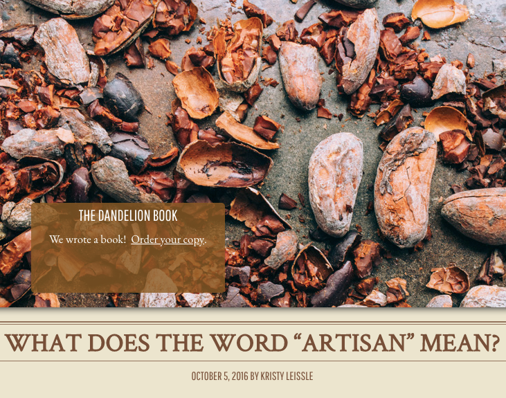 What Does the Word 'Artisan' mean?