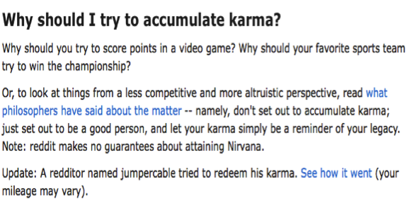 Reddit's own explanation of karma ( 28 ).