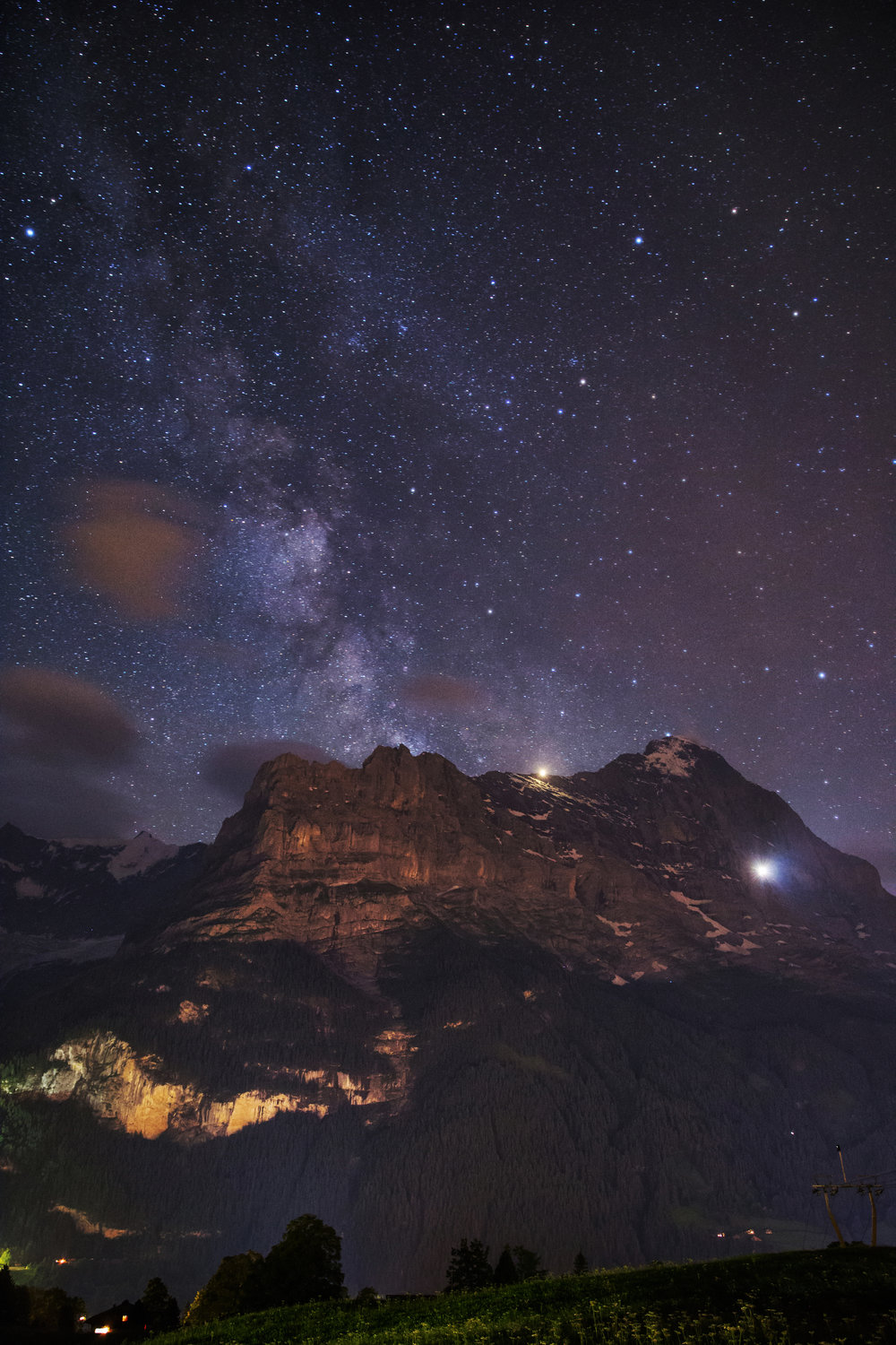 The Eiger Under the Milky Way