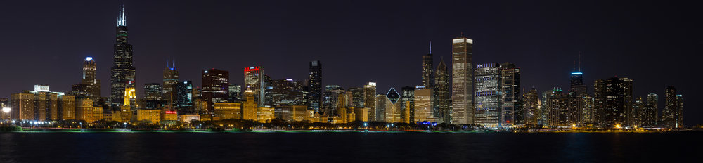 Nighttime in the Windy City