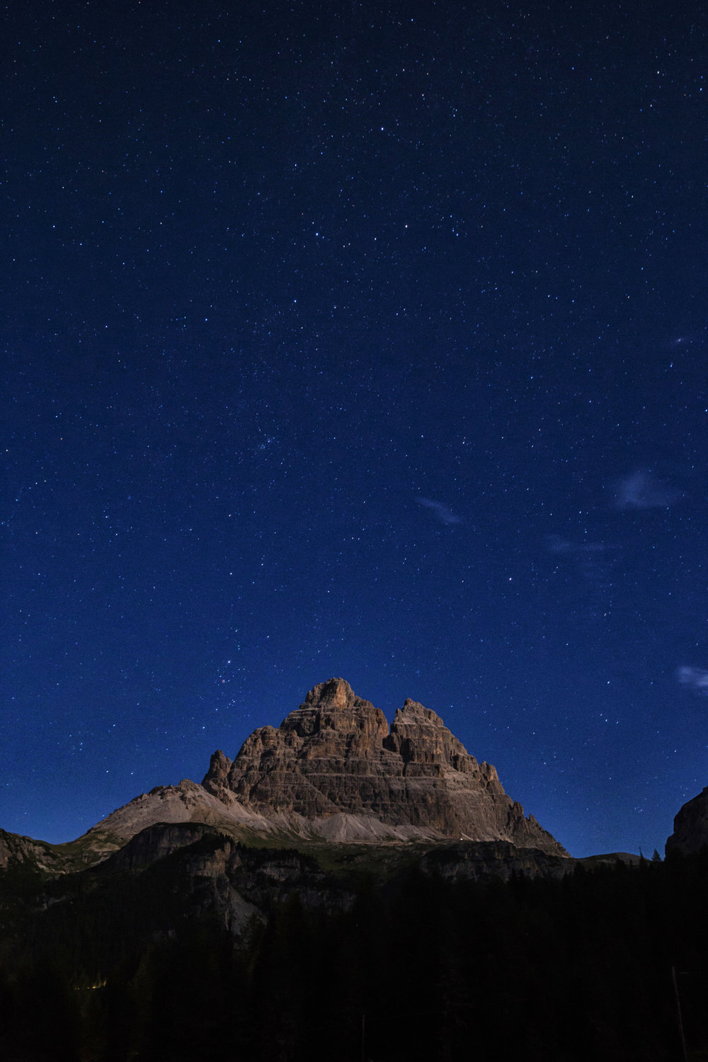 Midnight in the Dolomites