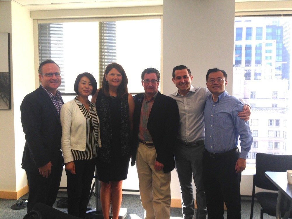 (From Left): Dean Jones, Realogics Sotheby's International Realty; Holly Yang, Kidder Matthews; Kristi Heim, Washington State China Relations Council; John Spear, Tigeroak Publication; Marc Berger, Nyhus Communications; and ZhaoHui Tang, adSage