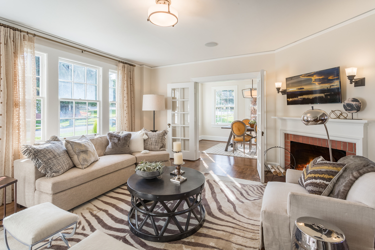 ABOVE AND BELOW: These move-in-ready heirloom homes at Fort Lawton (shown above) have three-bedrooms and nostalgic yet modern open floor plans.  Even better, Discovery Park is your backyard.
