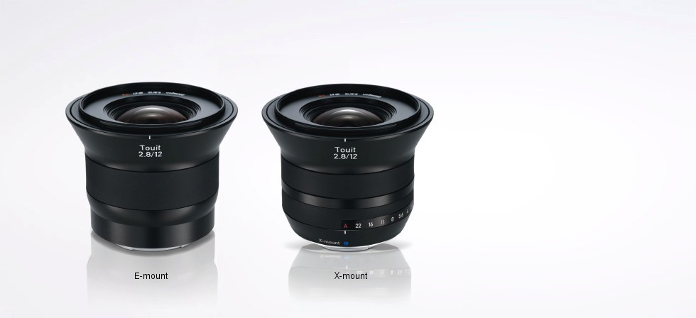 Zeiss Touit 12mm f/2.8 in both Sony E and Fujifilm X mounts