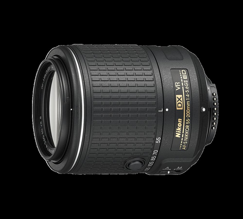 The AF-S Nikkor 55mm-200mm /4-5.6 G II ED Lens