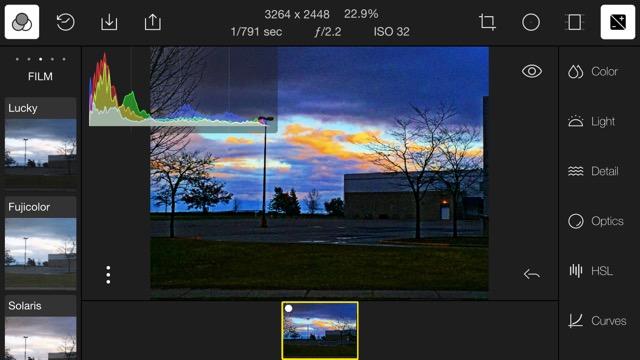 Polarr V3 running on my iPhone 6 Plus