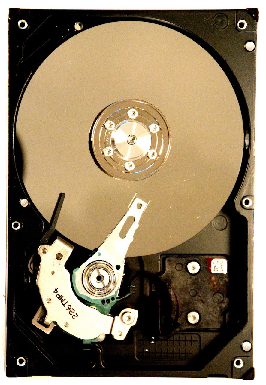 This hard drive has died.  Yours can too.