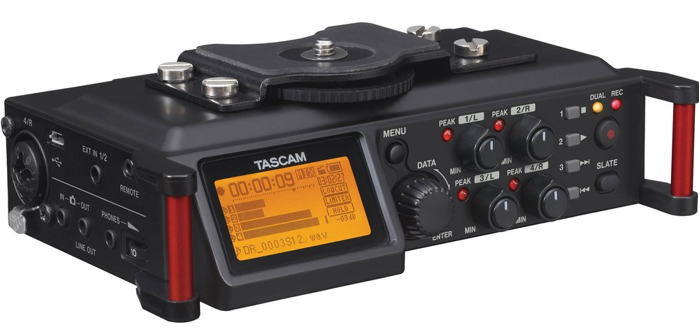 Tascam's DR-70D - a great sounding and high usable field and studio recorder