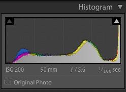 ETTR histogram before post processing