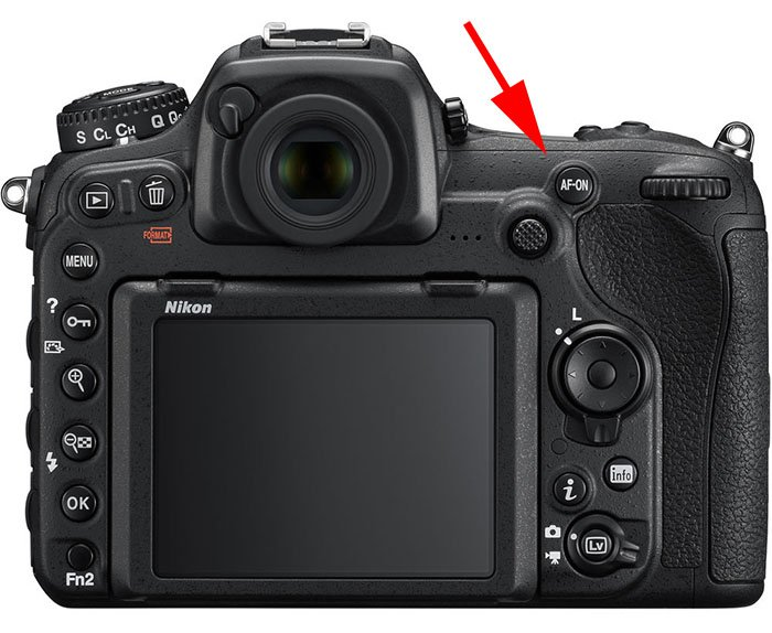 On Nikon cameras, the AF-ON button can be set to be back button focus
