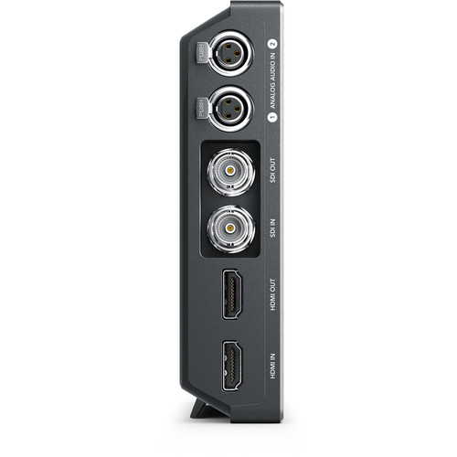 Dual mini XLR inputs, SDI and HDMI inputs and outputs