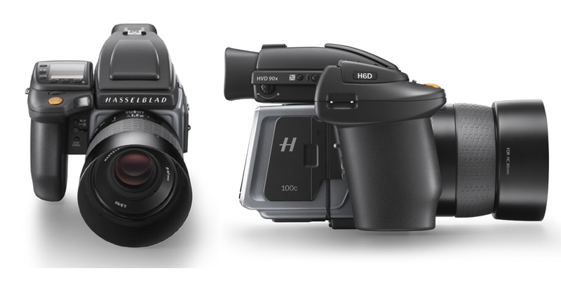 Front and side views of the Hasselblad H6D-100c