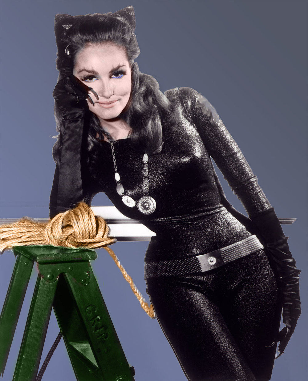Julie Newmar as Catwoman on Batman