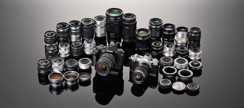 Some of the mirrorless lenses available today from Olympus