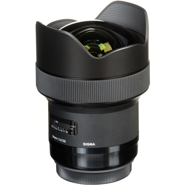 Sigma's very cool 14mm f/1.8 ultra wide, available in Canon, Nikon and Sigma SA mounts