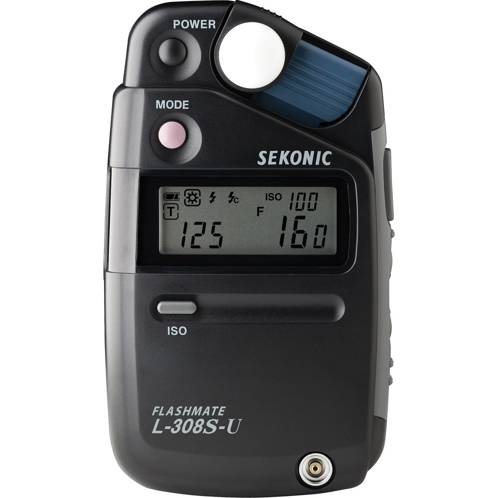 Sekonic Flashmate L-308S  A great little meter that does both ambient and flash