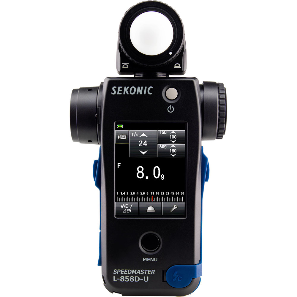 The Sekonic L-858D replaces the respected L-758D and adds a touchscreen.  This does ambient, flash and spot metering in a single unit.  The incident sensor can rotate and also retract into the body.  I've had my 758 for years and it has stood up to harsh use very well.  This is definitely pro grade kit