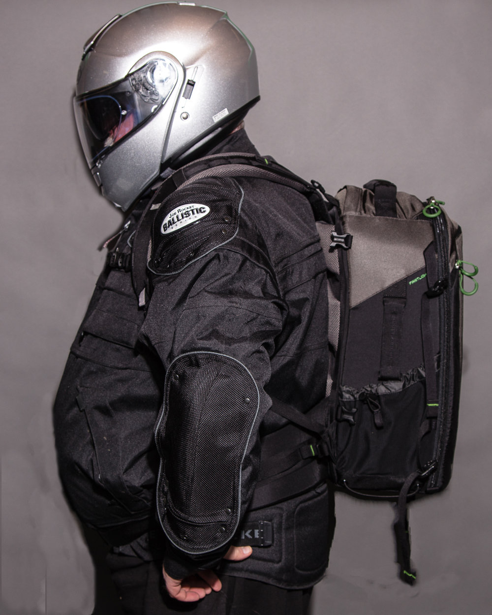 You can see that the bottom of the bag still sits above the natural waist, even with the strap plate fully extended. I would raise the bag a notch measurement and am still confident of no interference with my helmet