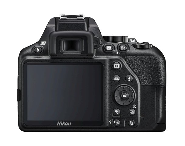The back of the D3500 has a very simple layout